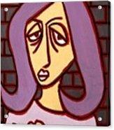 Brick Lady Acrylic Print