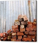 Brick Piled Acrylic Print by Stephen Mitchell