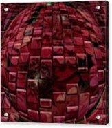 Brick Red Acrylic Print