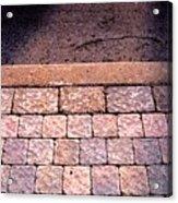 Brick Sidewalk 3 Wc Acrylic Print