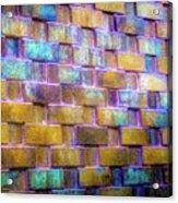 Brick Wall In Abstract 499 S Acrylic Print