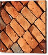 Bricks Made From Adobe Acrylic Print