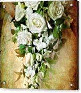 Bridal Bouquet Acrylic Print by Meirion Matthias