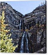 Bridal Veil Falls Provo Utah Acrylic Print