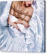 Bridal/wedding Sensual Rope - Fine Art Of Bondage Acrylic Print by Rod Meier