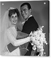 Bride And Groom, C.1960s Acrylic Print
