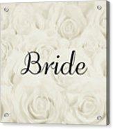 Bride Floral Design- Cream White Acrylic Print