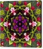 Bride's Maids Boquet Kaleidoscope Acrylic Print