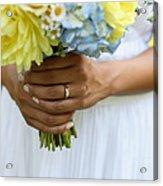 Brides Wedding Ring Acrylic Print