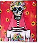 Bridezilla Dia De Los Muertos Acrylic Print