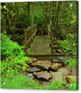 Bridge Across A River Is Part Of The Pa At Acrylic Print