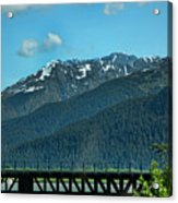 Bridge Alaska Rail  Acrylic Print