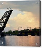 Bridge And Rainbow Over Seekonk River Acrylic Print