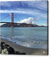 Bridge And Sea Acrylic Print