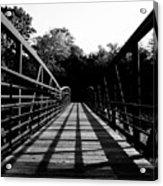 Bridge And Tunnel - B/w Acrylic Print