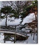 Bridge At Botanical Garden Acrylic Print