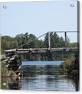 Bridge At Chub Acrylic Print