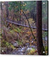 Bridge At Deer Creek Acrylic Print