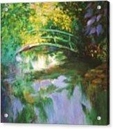 Bridge At Giverny Acrylic Print
