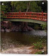 Bridge At Morikami Acrylic Print