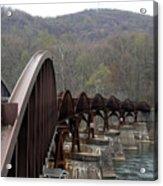 Bridge At Ohiopyle Pennsylvania Acrylic Print