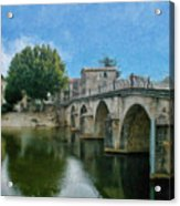 Bridge At Quissac - P4a16005 Acrylic Print