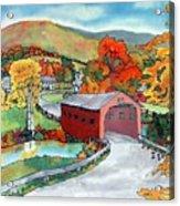 Bridge at the Green Acrylic Print