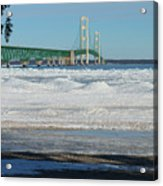 Bridge At Winter Acrylic Print