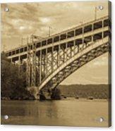 Bridge From The Train Acrylic Print