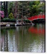 Bridge In Bamboo Garden Acrylic Print