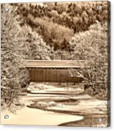 Bridge In Sepia Acrylic Print