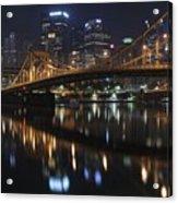 Bridge In The Heart Of Pittsburgh Acrylic Print