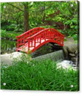 Bridge In The Woods Acrylic Print