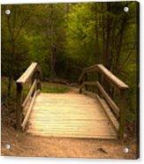 Bridge In The Woods Acrylic Print