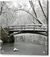 Bridge In Winter Acrylic Print