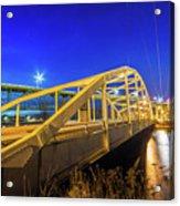 Bridge Meridian Sault Ste. Marie, Michigan -6792 Acrylic Print