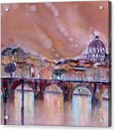 Bridge Of Angels - Rome - Italy Acrylic Print