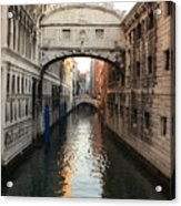 Bridge Of Sighs In Venice In Morning Light Acrylic Print