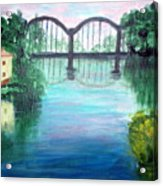 Bridge On The River Adda Acrylic Print
