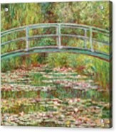 Bridge Over A Pond Of Water Lilies Acrylic Print