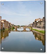 Bridge Over Arno River In Florence Italy Acrylic Print