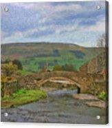 Bridge Over Duerley Beck - P4a16020 Acrylic Print