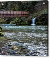 Bridge Over Hackleman Creek Acrylic Print