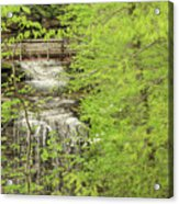 Bridge Over Little Clifty Falls Acrylic Print