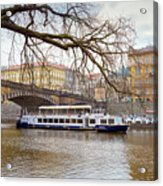 Bridge Over River Vltava Acrylic Print