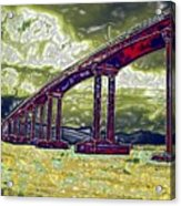 Bridge Over Stormy Waters Acrylic Print