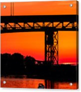 Bridge Over Sunset Acrylic Print