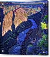 Bridge Over The Crooked River Gorge Acrylic Print