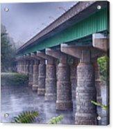 Bridge Over The Delaware River Acrylic Print
