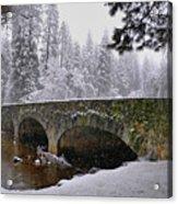Bridge Over The Merced Acrylic Print by Frank Remar